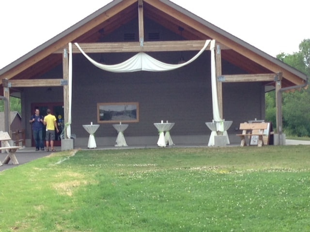 Maurin Center Exterior Decorated for a Wedding