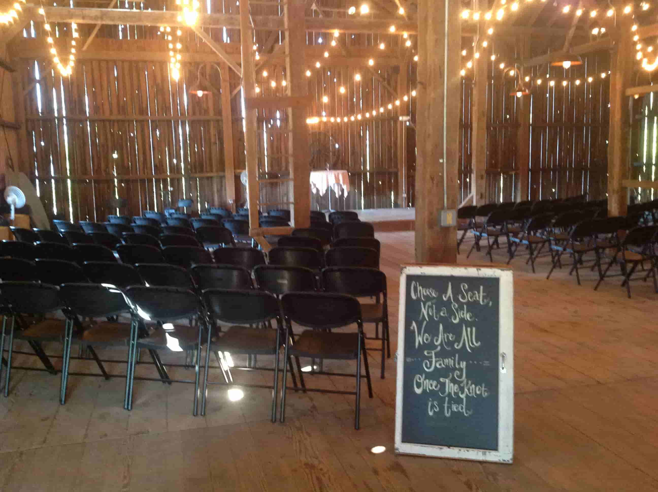 Wedding in the barn