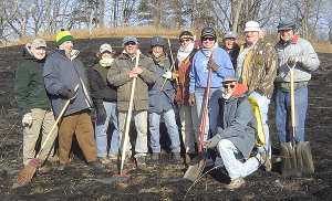 Volunteers Assist with Prairie Burn