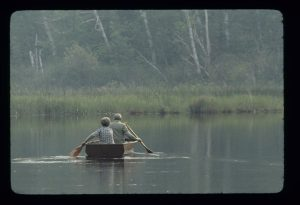 The Maurins' Enjoying a Canoe Outing