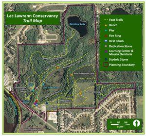 Lac Lawrann Trail Map